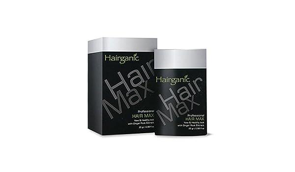 Amazon Com Hairganic Plus Hair Max Professional Thickener Black