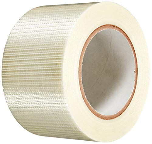 Heavy Duty Strapping Tape - T.R.U. FIL-835B/D Transparent Bi-Directional Filament Strapping Tape: 3 in. x 60 yds.