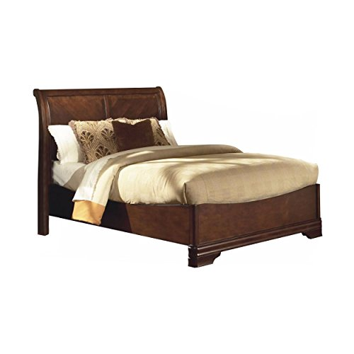 NCF Savona Sleigh California King Bed in Burnished Cherry (Suite King Sleigh Bedroom)