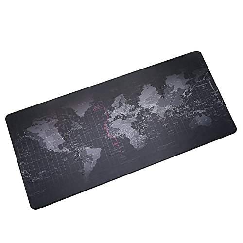 BIFY World Map Extended Gaming Mouse Pad Large Size 900x400mm Office Desk Pad Mat with Stitched Edges for PC Laptop Computer - World Map Photo #3