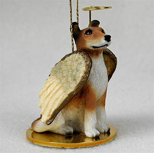 Ky & Co YesKela Collie Ornament Angel Figurine Hand Painted Smooth Hair Sable ()