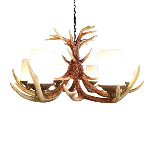 Pine Ridge Rustic Deer Antler Chandelier Ceiling Lamp Light Fixtures - Lifestyle Lightning Home Decor Products for Dining, Bedroom, Hallway, and Living Room - Christmas Holiday Decorations (Ridge Christmas Garden Ornaments)