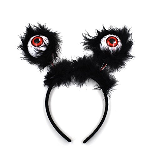 Midafon 6Pcs Eyeball Boppers LED Flashing Eyes Halloween Hairband Costume Accessories Party Supplies Party Favors for Kids Girls (Flashing Eyes Halloween Costume)