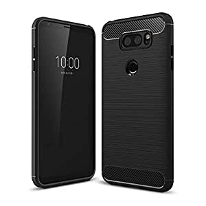 For LG V30 Carbon Fiber Drawing TPU Whole Package Anti Dropping Mobile Phone Shell