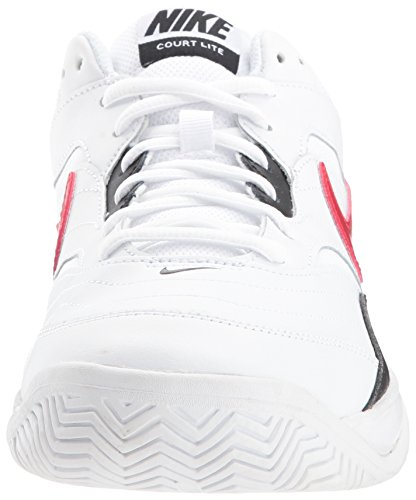 Nike Men's Court Lite Tennis Shoe, White/University red/Black, 7.5 D US by Nike (Image #4)