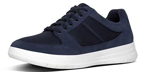 Midnight 10uk Suede Mix Lace UP Navy FitFlop Sneaker Navy TOURNO 44 Midnight qRTvCn6x
