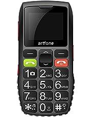 Artfone C1 Mobiele telefoon voor oudere mensen met grote knoppen, SOS-functie, 1,77 inch display, dual sim, snel oproepen, zaklamp, hoge radio, lange batterijduur