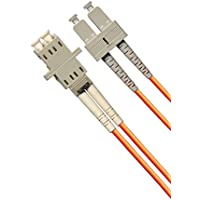 1ft Fiber Optic Adapter Cable LC (Female) to SC (Male) Multimode 62.5/125 Duplex