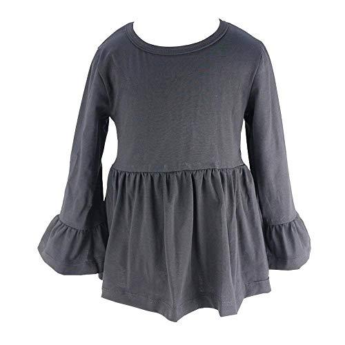 Wennikids Baby Girls Cotton Ruffle Short Sleeve Top T-Shirt 1-5T