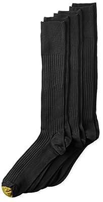 Gold Toe Men's Canterbury Over the Calf Dress Sock, 3-Pack