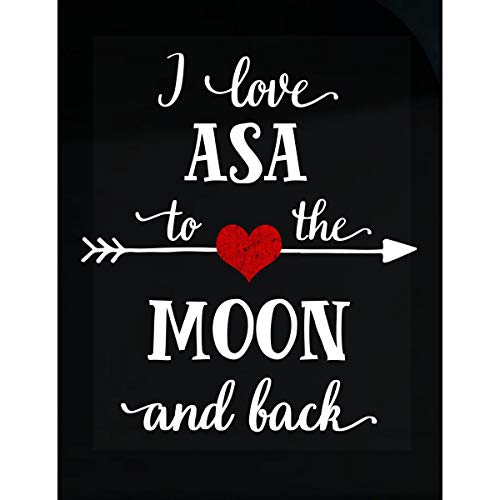 Inked Creatively I Love ASA to The Moon and Back.Gift for Boyfriend - Sticker