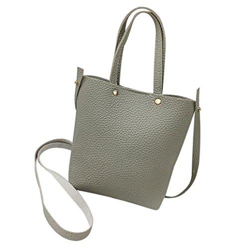 Élégant Imperméable a Sac Sac Retro Main Bag Simple Cuir Grand Synthétiqu SANFASHION à Gris Bandoulière Sac Femme 0ZHTwq