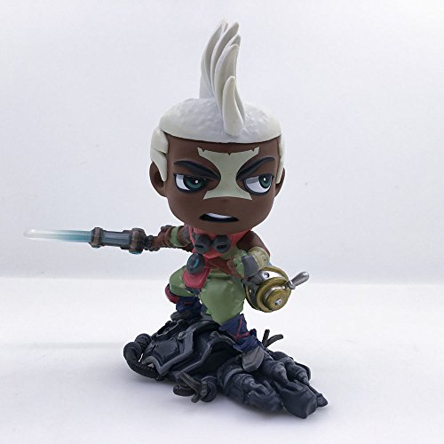 ZWL LOL League of Legends Ekko Action PVC Decoration Collection Figurine Toy Gifts