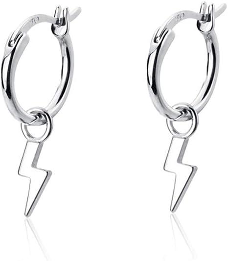 Sterling Silver Lightning Dangle Earrings Lightweight Fun Earrings Gift
