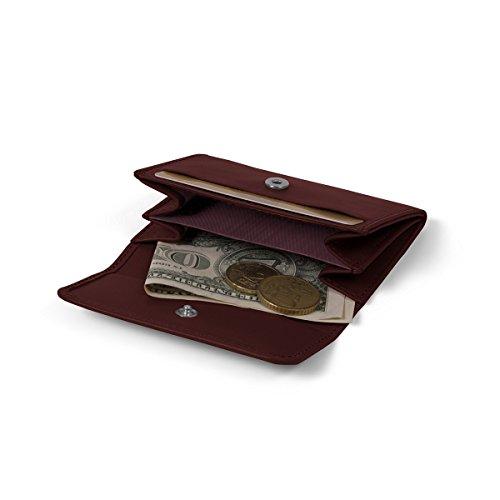 Lucrin - Kleiner Geldbeutel - Glattleder Weinrot