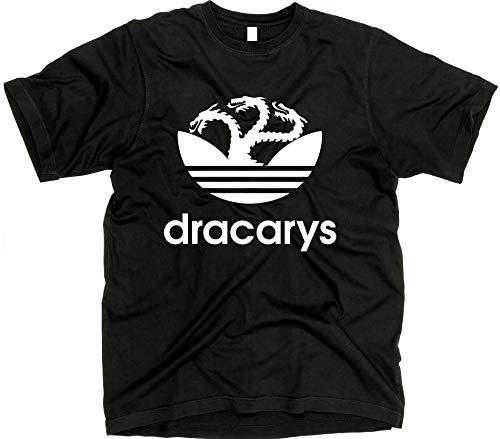 GunShowTees Men's Dracarys Targaryen Dragon GoT Shirt, X-Large, Black