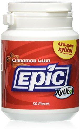 Cinnamon Dental Gum - Epic Dental Xylitol Gum, Cinnamon - 50 Piece