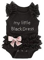 Ganz Baby Girls Embroidered Little Black Dress Bodysuit