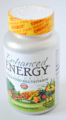 - Enhanced Energy Whole Food Multivitamin 1 Daily 60 Vegetarian Tablets