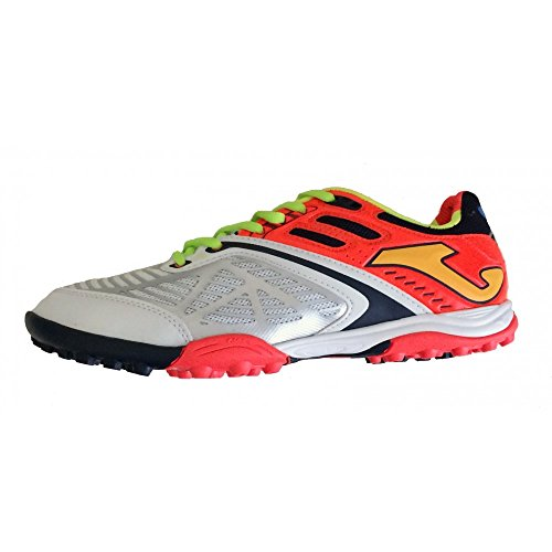 Joma-Zapatillas C/5 Lozano 402 turf color blanco y naranja Bianco