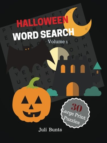 Halloween Word Search 30 Large Print Puzzles Volume 1: Halloween Puzzles Word Find Large Print Puzzles Book For Kids Grades 5 And Up]()