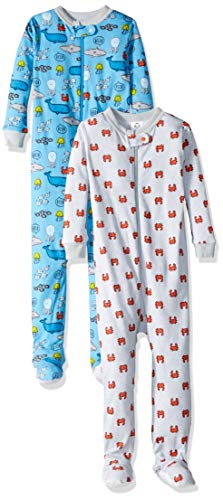 Gerber Baby Boys 2-Pack Footed Unionsuit, Under The Under The Sea, 18 Months -