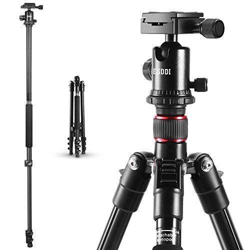 Camera Tripod ESDDI 64 Inches Aluminum Alloy