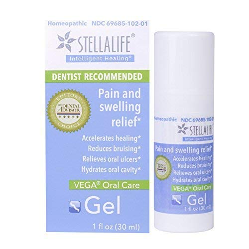 StellaLife VEGA Oral Gel: Dry Sockets, Dry Mouth, Teeth Extraction, Gum Surgery, Ulcers, Braces, Dentures & Cold Sores, Mucositis, Lesions & Lichen Planus Advanced Natural Dental Pain - Swelling Dental