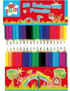 Mini lápices de colores (Pack de 36): Amazon.es: Oficina y papelería