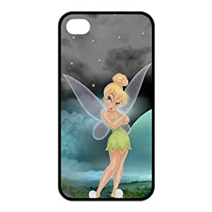 Stylish Tinker Bell Design Rubber TPU Shell Protector for Iphone 4 4S,Waterproof Rubber TPU Cover Phone Case For Iphone 4/4S