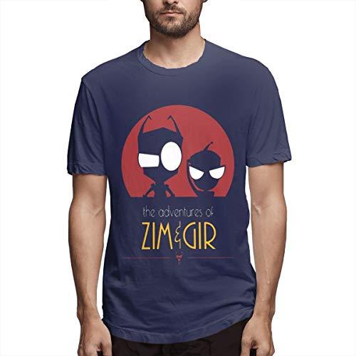 Terstin Classic-Invader-Zim-Gir Retro Vintage Shirt Navy