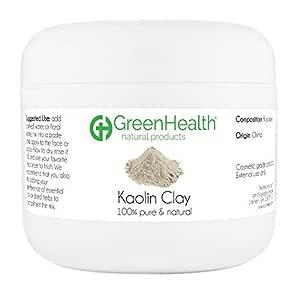 Kaolin Clay Powder - 100% Pure & Natural by GreenHealth (3 oz)