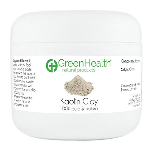 Kaolin Clay Powder - 100% Pure & Natural by GreenHealth (3 oz)