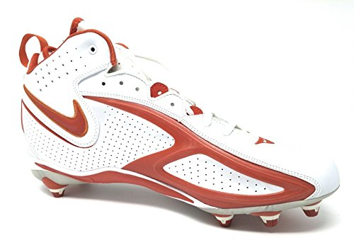 Nike Air Zoom Blade II Football Cleats 310936 181 Size 12.5 White/Orange Flash