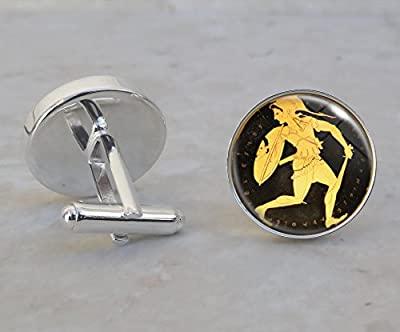 Amazon Warrior Woman Sterling Silver Cufflinks