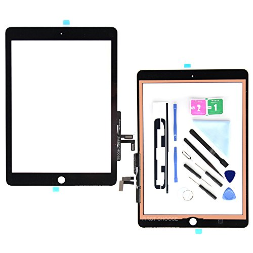 - Black Digitizer for iPad 9.7 (A1822, A1823)/Ipad 5 Ipad Air 1st Touch Screen Digitizer - Front Glass Replacement with Tool Repair Kits + Adhesive