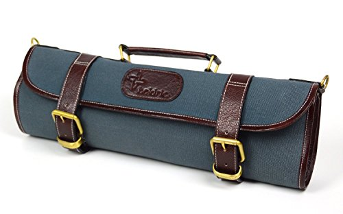 Boldric 9 pocket Canvas Roll Knife Bag Abalone by Boldric