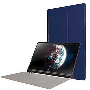 Protección Caja para Lenovo YOGA Tab 3 10 YT3-X50 FL 10.1 Pulgadas Smart Slim Case Book Cover Stand Flip (Azul) NUEVO