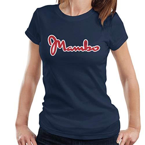 Mambo shirt Retro Women's Blue Sports Logo Navy T 8U8aBq
