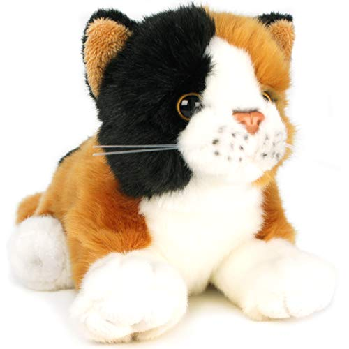 (VIAHART Caliope The Calico Cat | 7 Inch (Without Tail!) Animal Plush | by Tiger Tale Toys)