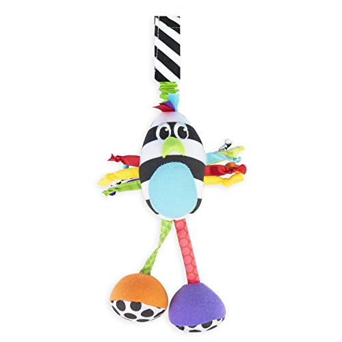 Sassy Boppin' Birdie | Developmental Plush Toy for Early Learning | High Contrast | Attaches to Baby Gear for Travel | for Ages Newborn and Up