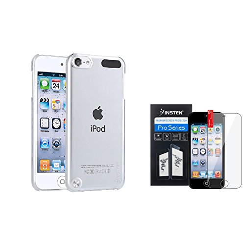 INSTEN Hard Clear Case Crystal Cover+Clear Guard Compatible with Apple iPod Touch 6th Gen iPod Touch 5 5G 5th Gen