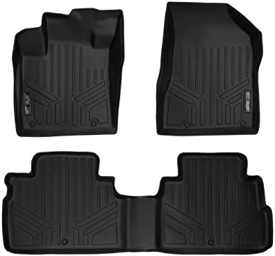 SMARTLINER All Weather Custom Fit 2 Row Black Floor Mat Liner Set Compatible With 2015-2018 Nissan Murano (Does NOT Fit 2017.5 Models)