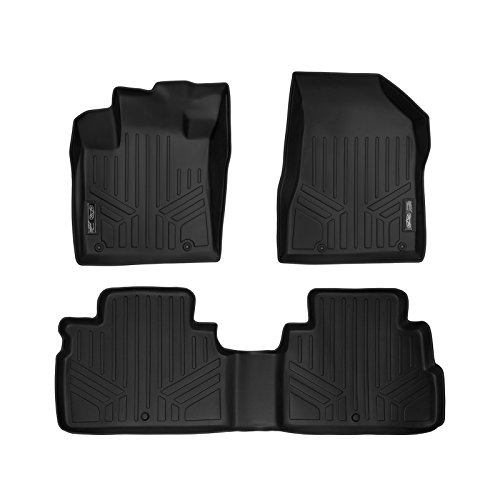 Liner Row Floor (SMARTLINER Floor Mats 2 Row Liner Set Black for 2015-2017 Nissan Murano)