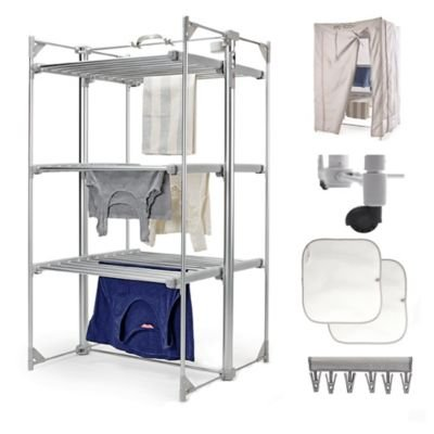 Dry:Soon Deluxe 3-Tier Heated Airer & Accessories Pack (Under 6p / Hour!) drysoon