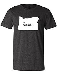Oregon Home Mi Casa 3001 Premium Crewneck T-Shirt Slogan Humorous Tee Shirt