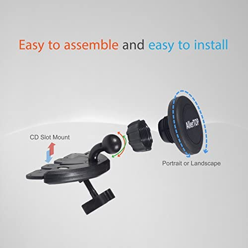 For All iPhone LG Models And Many More 4351571624 AllerTOP CD Slot Car Mount Universal Phone Holder Galaxy Huawei High Power Dual Ports 3.1A Car Phone Charger Samsung