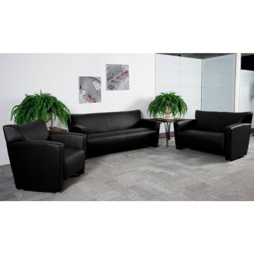 Flash Furniture HERCULES Majesty Series Reception Set in Black by Flash Furniture