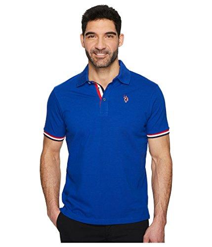 U.S. Polo Assn. Men's Short Sleeve Classic Fit Solid Pique Polo Shirt, Cobalt Blue Khkl, (Classic Solid Pique Polo)