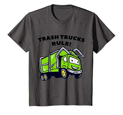 Kids Trash Trucks Rule Rubbish Truck Toys Boy Bin Garbage Bags T-Shirt
